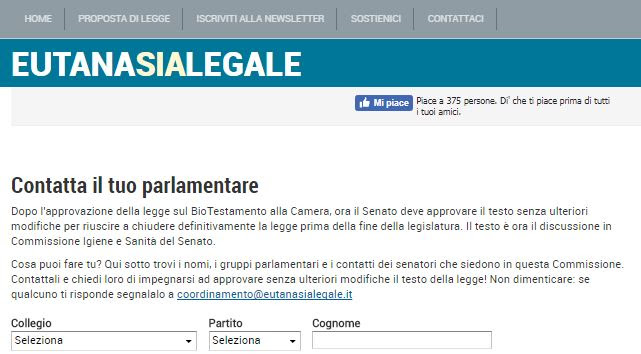 #BioTestamento: il Senato tradisce il calendario. Contatta il tuo parlamentare