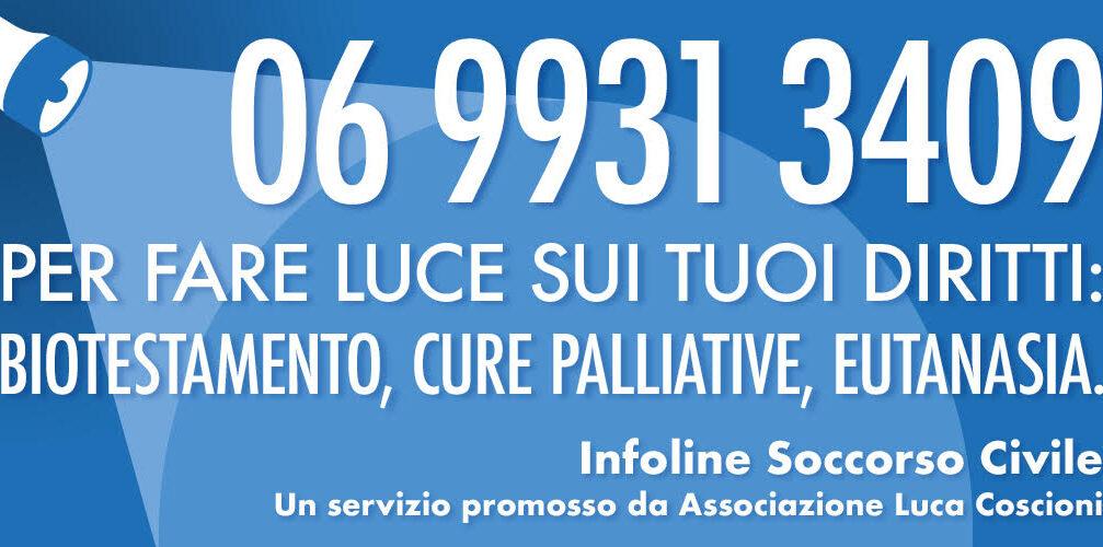 """È attiva la linea telefonica """"Infoline – Soccorso civile"""""""